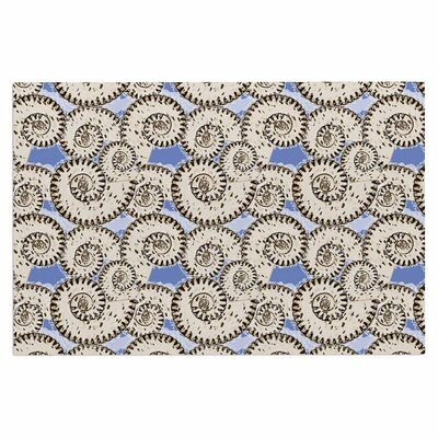 Mydeas Nautical Breeze Spiral Seashells Vector Doormat
