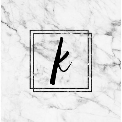 Marble Monogram Shower Curtain Letter: K