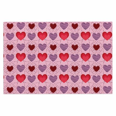 Mydeas Fancy Scribbled Hearts Vector Doormat