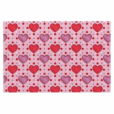 Mydeas Colored Candy Hearts Dotted Vector Doormat