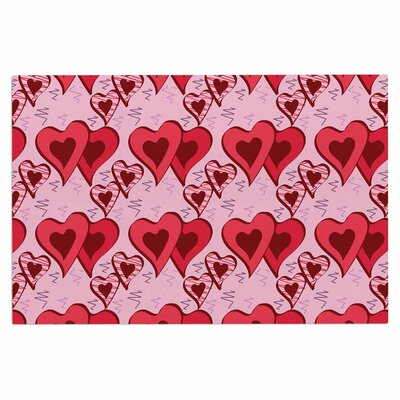 Mydeas Scribbled Hearts Vector Doormat