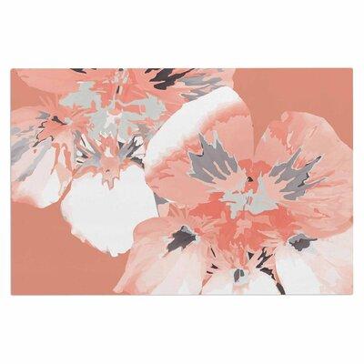 Love Midge Graphic Flower Nasturtium Floral Doormat Color: Pink/Coral