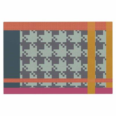 Pellerina Houndstooth Color Block Contemporary Doormat