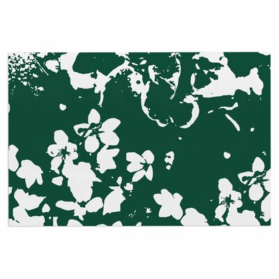 Love Midge Helena Floral Floral Modern Doormat Color: Green/White