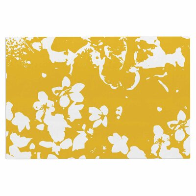 Love Midge Helena Floral Floral Modern Doormat Color: Yellow/Golden/White