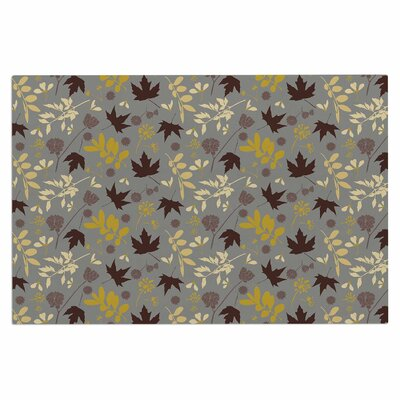 Mayacoa Studio Fall Leaves Floral Doormat