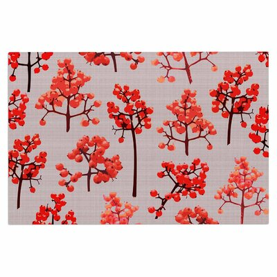 Pallerina Holiday Berry Twigs Floral Nature Doormat