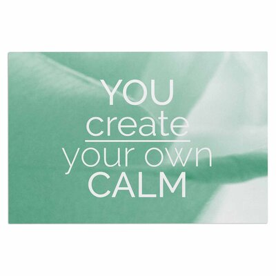 Tiny September You Create Your Own Calm Pastel Photography Doormat