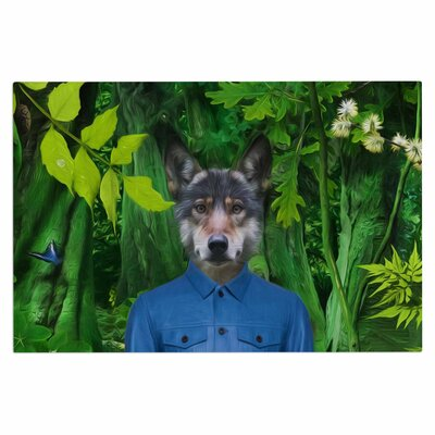 Natt Into the Leaves N3 Wolf Doormat