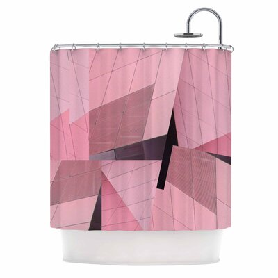 Tiny September Flamingo Shower Curtain