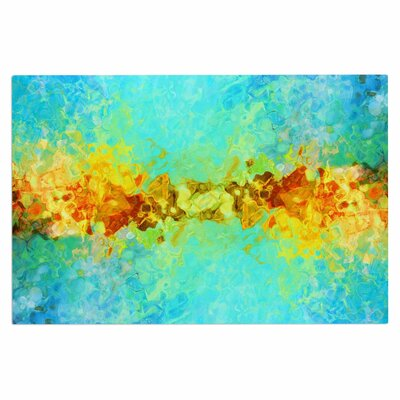 Ginkelmier Colorful Earthly Abstract Abstract Doormat