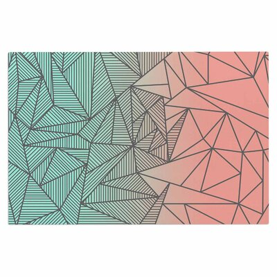 Fimbis Bodhi Rays Geometric Illustration Doormat