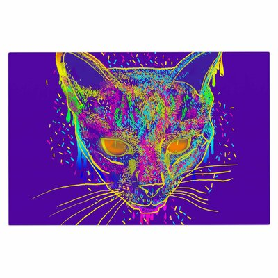 Frederic Levy-Hadida Candy Cat Rainbow Doormat