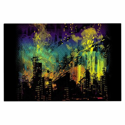 Federic LevyHadida City Grid Rainbow Doormat