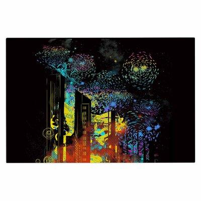 Federic LevyHadida Starry City Lights Rainbow Doormat