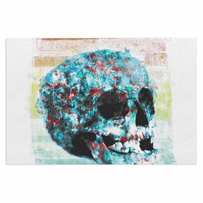 Frederic Levy-Hadida Floral Skully 2 Doormat