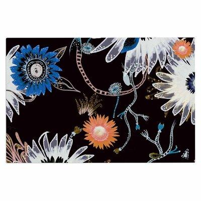 Fernanda Sternieri Dancing Flowers Abstract Doormat