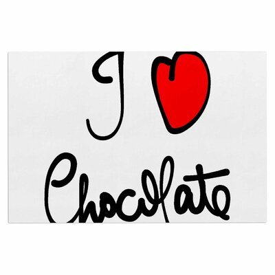 Gabriela Fuente I Love Chocolate Food Typography Doormat