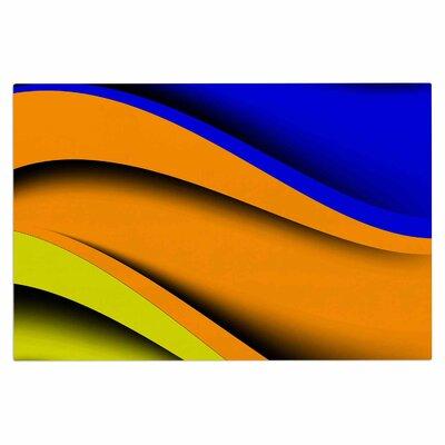 Fotios Pavlopoulos Colorful Flow Abstract Digital Doormat