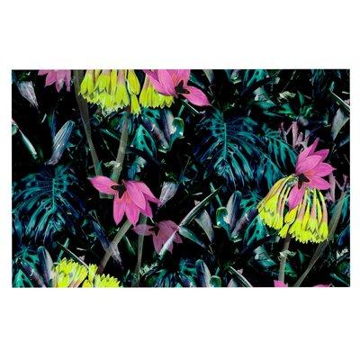 Fernanda Sternieri Night Garden Neon Flowers Doormat