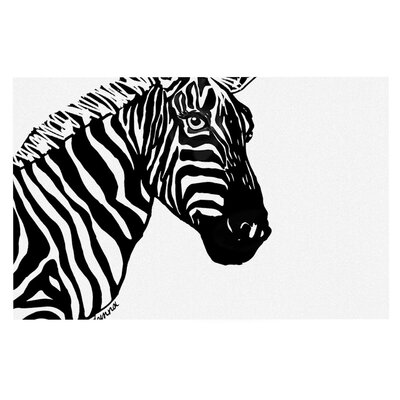 Geordanna Cordero Fields My Zebra Head Doormat