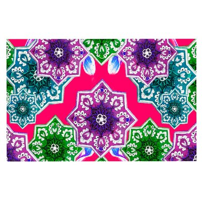 Fernanda Sternieri Flower Power Floral Doormat Color: Red/Magenta