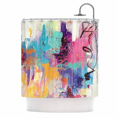 Geordanna Fields the Life After Abstract Shower Curtain
