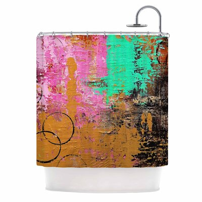 Geordanna Fields Kala II Abstract Shower Curtain