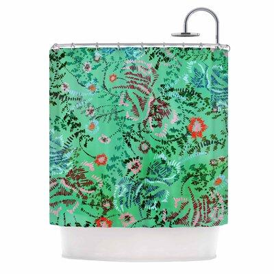 Fernanda Sternieri African Romance Shower Curtain Color: Green