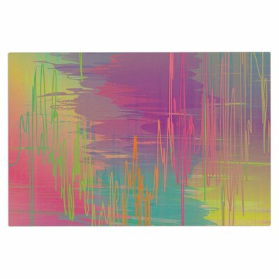 Graphic Tabby Rainbow Storm Abstract Doormat