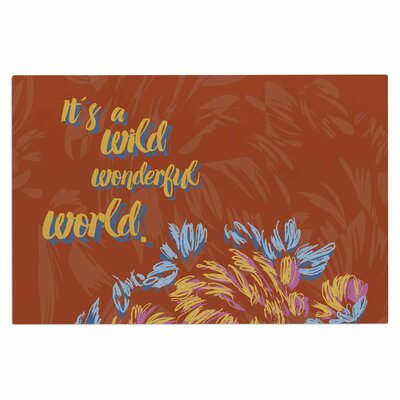 Gukuuki Wonderful World Typography Doormat