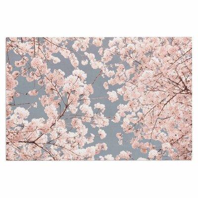 Iris Lehnhardt Rosy Sky Floral Doormat