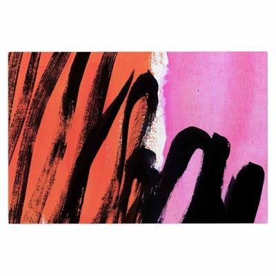 Iris Lehnhardt Strokes on Sherbet Abstract Doormat
