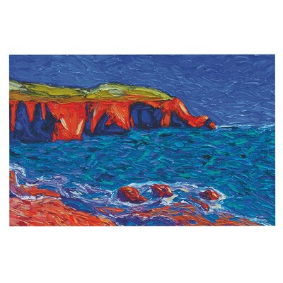Jeff Ferst Sea Shore Coastal Painting Doormat