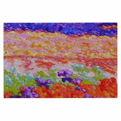Jeff Ferst Earthly Delights Floral Abstract Doormat