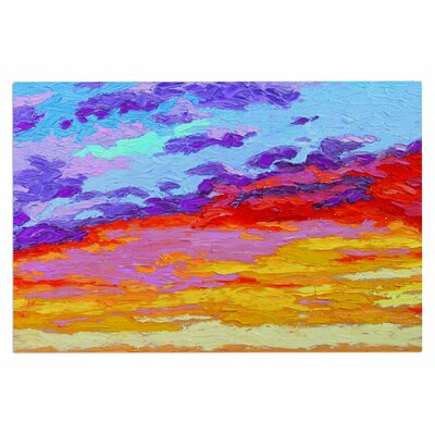 Jeff Ferst Dancing Clouds Sunset Doormat