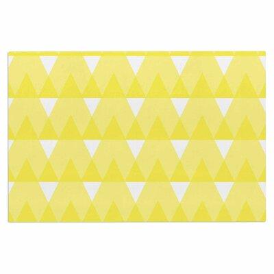 Jackie Rose Triangles Custard Doormat Color: Yellow
