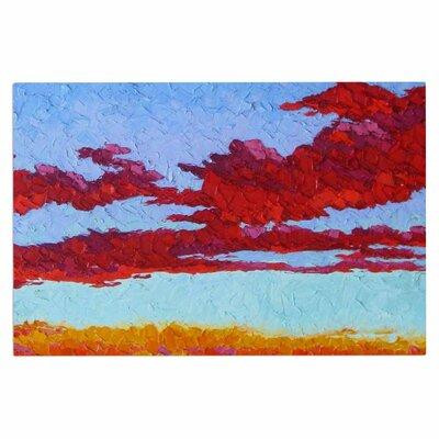 Jeff Ferst Spring Sunset Over Wildflowers Doormat