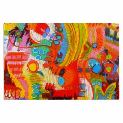 Jeff Ferst Flower Power Abstract Doormat