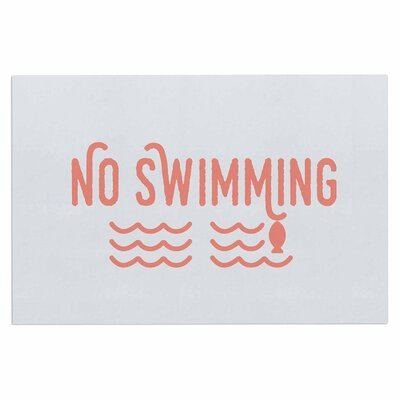 Jackie Rose No Swimming Typography Doormat