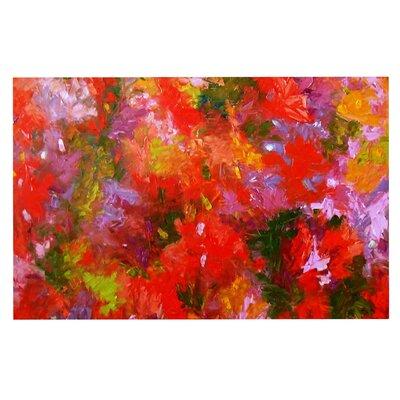 Jeff Ferst Summer Garden Floral Painting Doormat