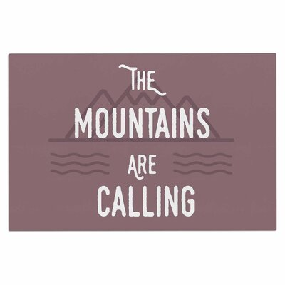 Jackie Rose the Mountains Are Calling Typography Doormat