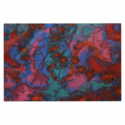 Jeff Ferst Koi Pond Painting Doormat