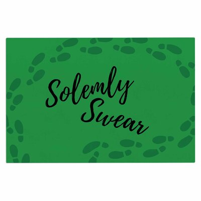Jackie Rose Solemly Swear Illustration Doormat