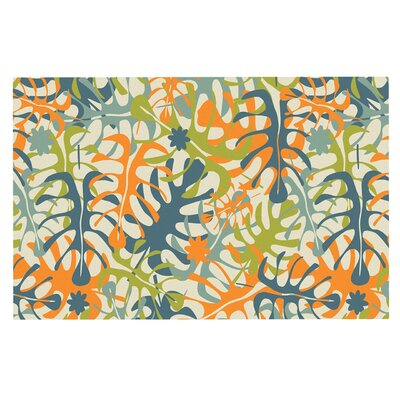 Julia Grifol Summer Tropical Leaves Doormat