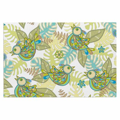 Julia Grifol Summer Birds Lime Doormat