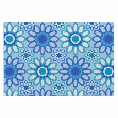 Julia Grifol Flowers Tile Vector Doormat