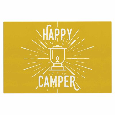 Jackie Rose Happy Camper Typography Doormat