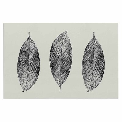 Julia Grifol Three Leaves Nature Doormat