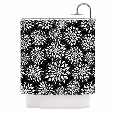 Julia Grifol Black and White Garden Shower Curtain